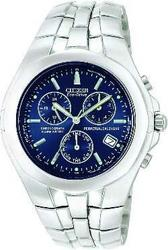 Citizen Eco-Drive Perpetual Calendar Chronograph - Stainless - Blue Dial